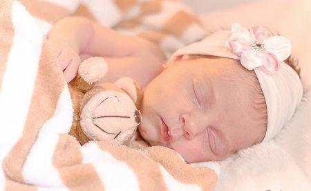 бебе, сън, сутрин, събуждане