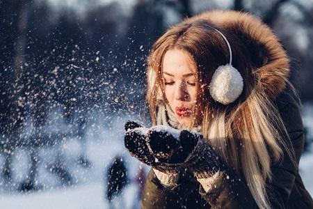зима, студ, кожа, сух, вода